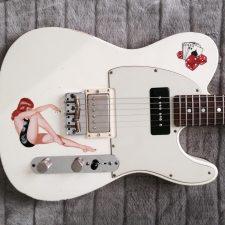 Gitarre Pin Up Painting 3