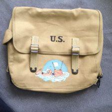 Musette bag M-1936 mit U.S.S. Sapelo, NYC